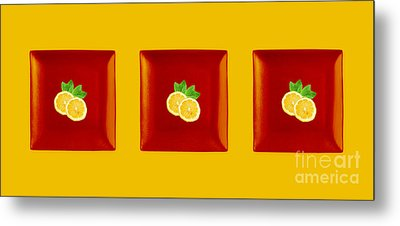 Kitchen Art - Citrus Lemon Metal Print by Aimelle ML