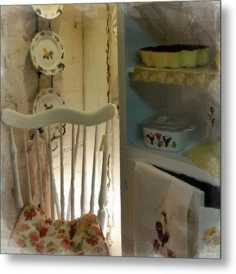 Kitchen Chair Metal Print by Bonnie Bruno