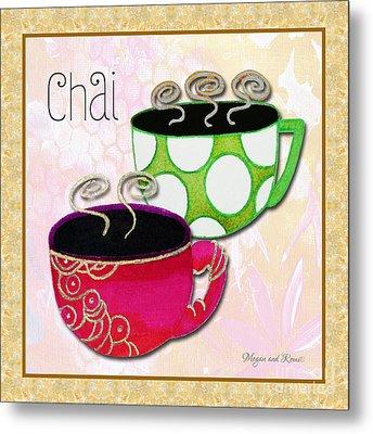Kitchen Cuisine Chai Tea Party By Romi And Megan Metal Print by Megan Duncanson