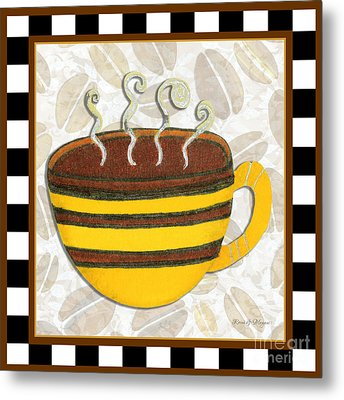 Kitchen Cuisine Hot Cuppa No14 By Romi And Megan Metal Print by Megan Duncanson