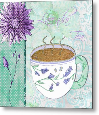 Kitchen Cuisine Hot Cuppa No80 By Romi And Megan Metal Print by Megan Duncanson