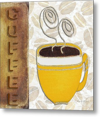 Kitchen Cuisine Hot Cuppa No87 V4 By Romi And Megan Metal Print by Megan Duncanson
