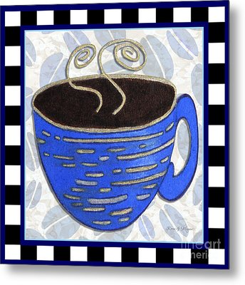 Kitchen Cuisine Hot Cuppa No89 By Romi And Megan Metal Print by Megan Duncanson
