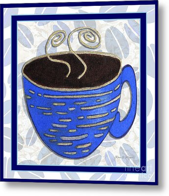 Kitchen Cuisine Hot Cuppa No89 V2 By Romi And Megan Metal Print by Megan Duncanson