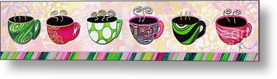 Kitchen Cuisine Hot Cuppatea Party By Romi And Megan Metal Print by Megan Duncanson