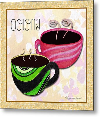 Kitchen Cuisine Oolong Tea Party By Romi And Megan Metal Print by Megan Duncanson