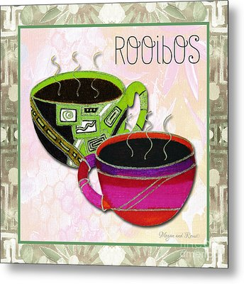 Kitchen Cuisine Rooibos Tea Party By Romi And Megan Metal Print by Megan Duncanson