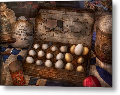 Kitchen - Food - Eggs - 18 Eggs  Metal Print