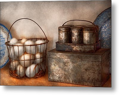 Kitchen - Food - Eggs - Fresh This Morning Metal Print by Mike Savad