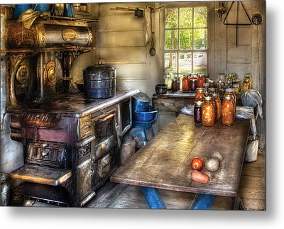 Kitchen - Home Country Kitchen  Metal Print by Mike Savad
