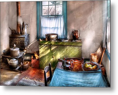 Kitchen - Old Fashioned Kitchen Metal Print by Mike Savad