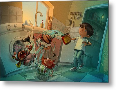 Kitchen Pirates Metal Print