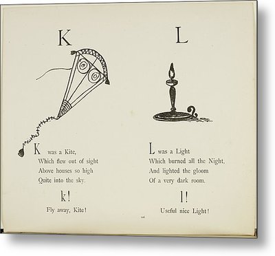 Kite And Light Metal Print by British Library