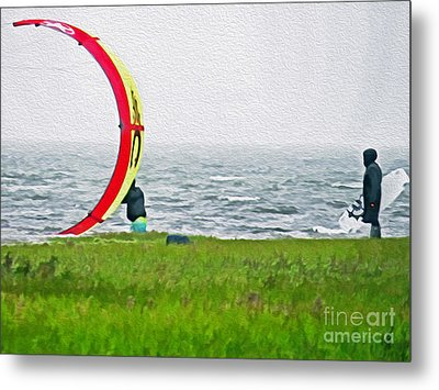 Kite Boarder Metal Print