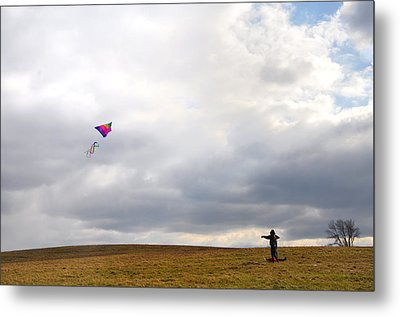 Kite Flying Metal Print by Bill Cannon