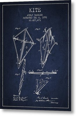 Kite Patent From 1892 Metal Print by Aged Pixel