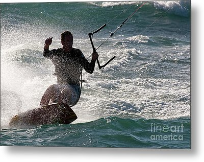 Kite Surfer 01 Metal Print by Rick Piper Photography