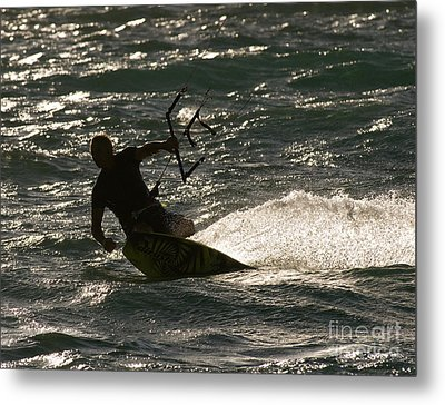Kite Surfer 03 Metal Print by Rick Piper Photography