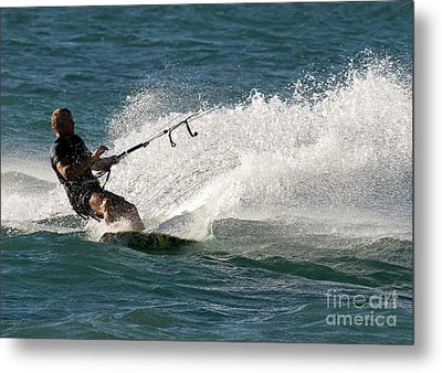 Kite Surfer 04 Metal Print by Rick Piper Photography