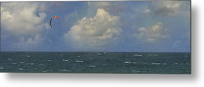Kite Surfer Metal Print by Michael Moschogianis