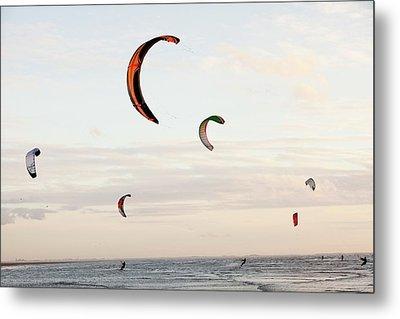 Kite Surfers Metal Print by Ashley Cooper