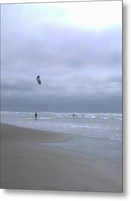 Kite Surfing Metal Print by Heather L Wright