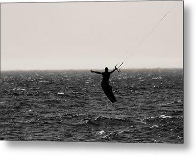 Kite Surfing Pose Metal Print by Dan Sproul