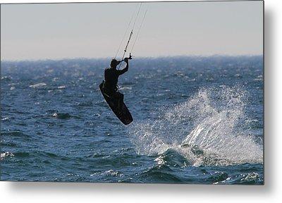 Kite Surfing Wakeboard Metal Print by Dan Sproul