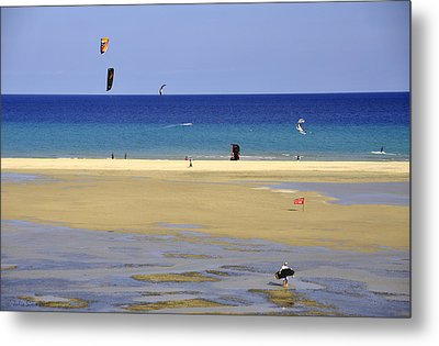 Metal Print featuring the photograph Kitesurfing Spot And Beach View At Melia Gorionez  by Julis Simo
