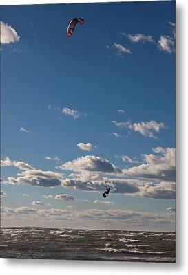 Kitesurfing The Long Island Sound Metal Print