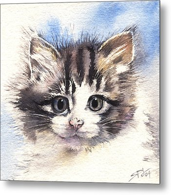 Kitten Lily Metal Print by Sandra Phryce-Jones
