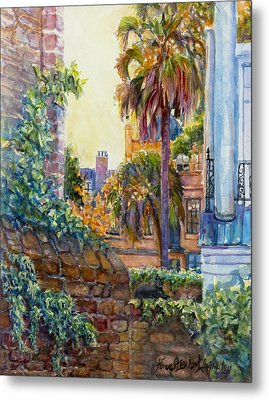 Kitty's Eye View Metal Print by Alice Grimsley