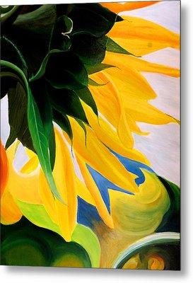 Kk's Sunflower Metal Print