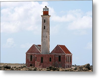 Metal Print featuring the photograph Klein Curacao Lighthouse by David Millenheft