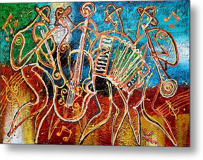 Klezmer Music Band Metal Print by Leon Zernitsky