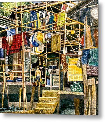 Klong House Metal Print by Andre Salvador
