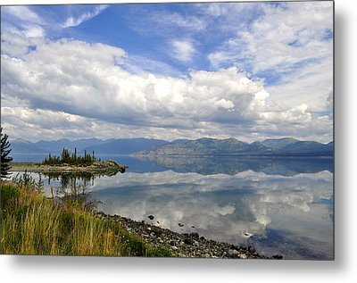 Metal Print featuring the photograph Kluane Reflections by Cathy Mahnke