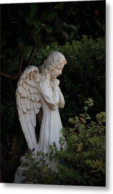 Kneeling Angel Metal Print