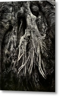 Kneeling At The Feet Of The Green Man Metal Print