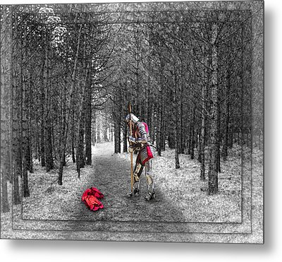Knight And The Maiden Metal Print