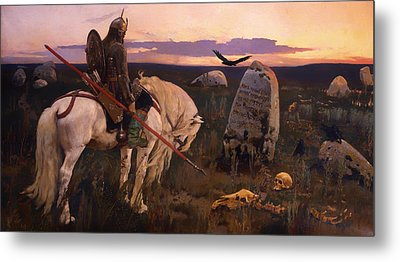 Knight At The Crossroads Metal Print by Mountain Dreams