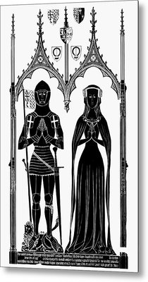 Knights England, 1416 Metal Print by Granger