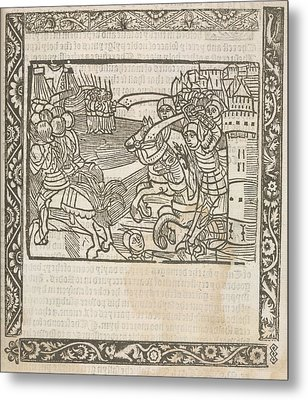 Knights Hospitaller Metal Print by British Library