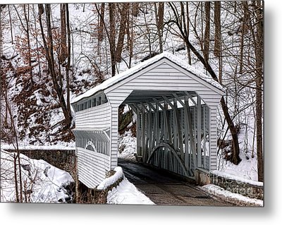 Knox Covered Bridge Metal Print by Olivier Le Queinec