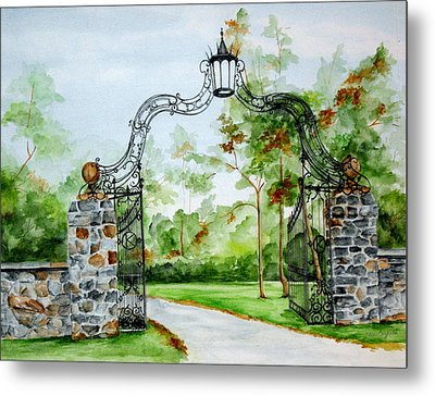 Metal Print featuring the painting Knox Estate by Ellen Canfield