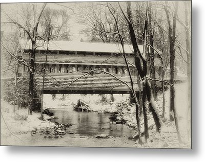 Knox Valley Forge Covered Bridge Metal Print by Bill Cannon