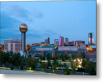 Knoxville At Dusk Metal Print by Melinda Fawver