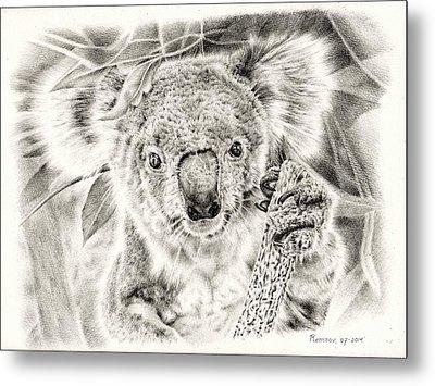 Koala Garage Girl Metal Print by Remrov