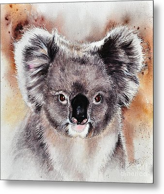 Metal Print featuring the painting Koala  by Sandra Phryce-Jones