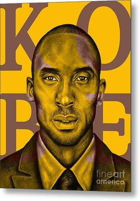 Kobe Bryant Lakers' Gold Metal Print